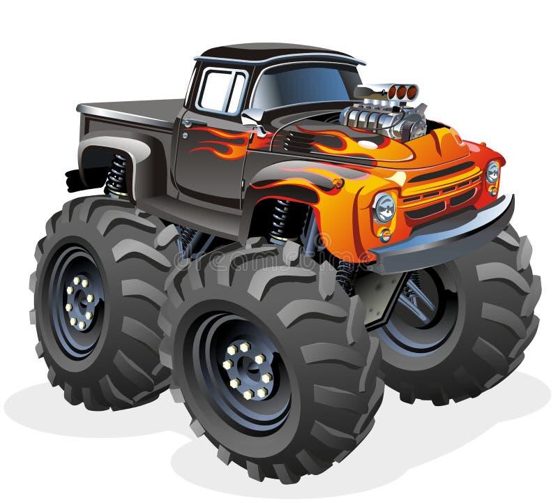 Caminhão de monstro dos desenhos animados ilustração stock