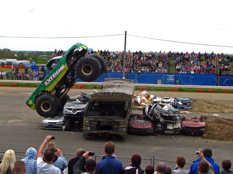 Caminhão de monstro extremo fotografia de stock