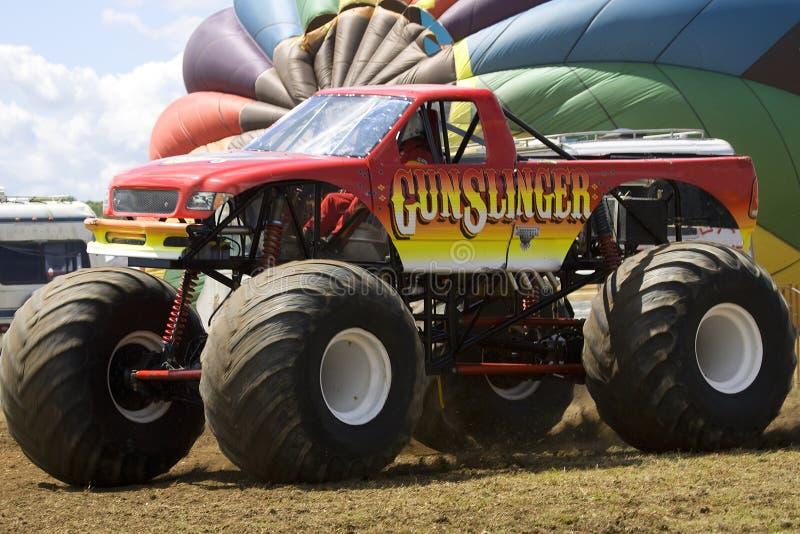 Caminhão de monstro na mostra de carro imagem de stock royalty free
