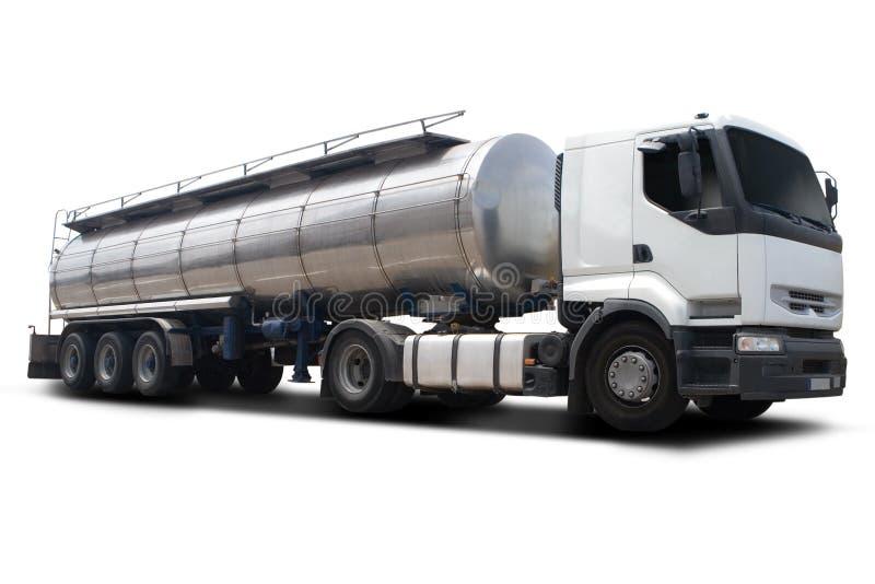 Caminhão de petroleiro do combustível fotos de stock royalty free