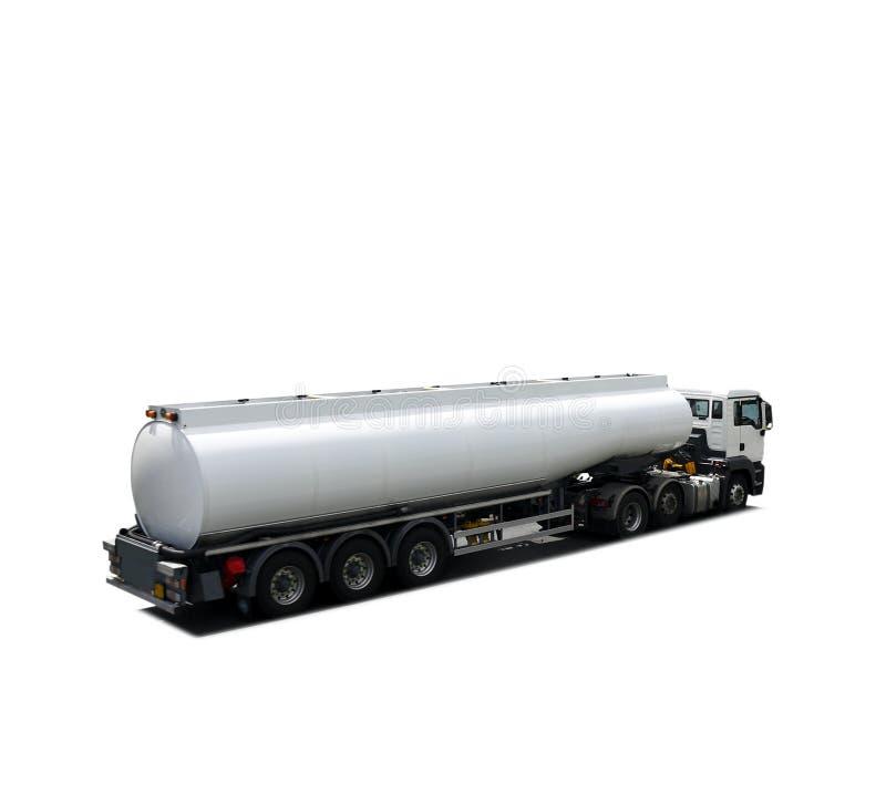 Caminhão de petroleiro do combustível isolado fotografia de stock
