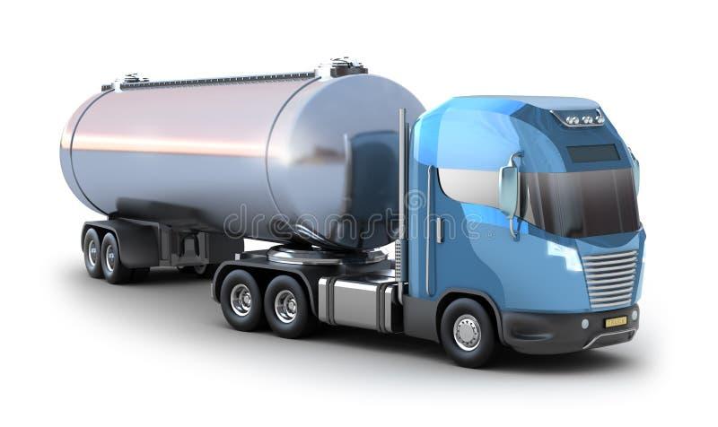 Caminhão de petroleiro do petróleo. Isolado no branco ilustração stock
