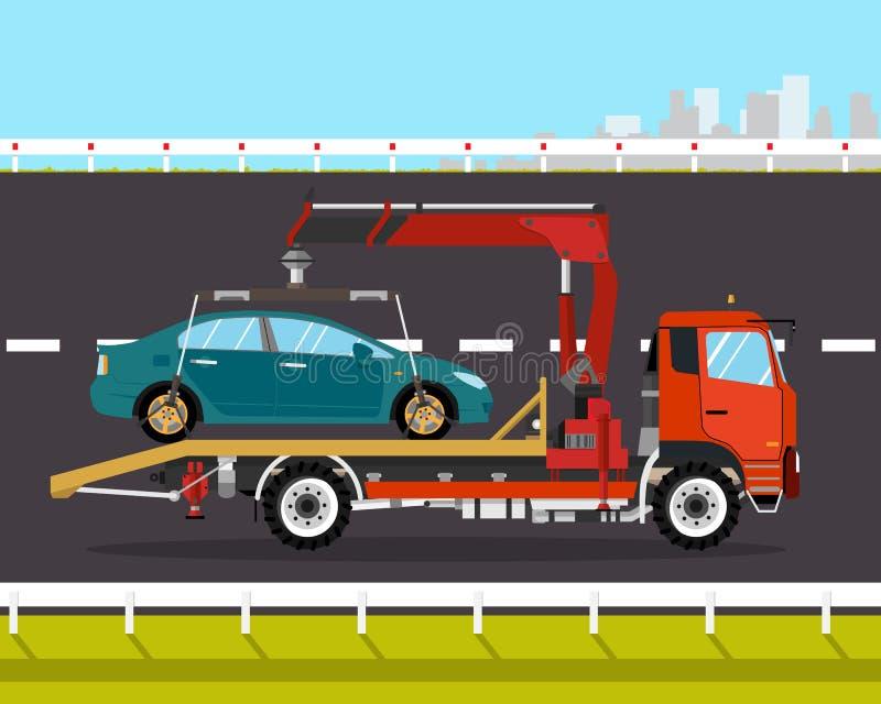 Caminhão de reboque ilustração stock