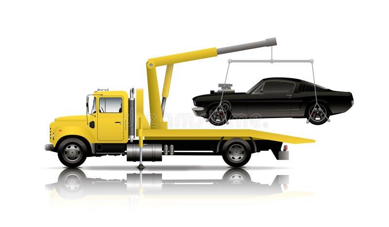 Caminhão de reboque amarelo ilustração stock