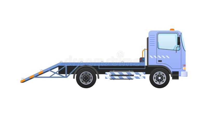Caminhão de reboque com guincho equipado, transporte de levantamento à plataforma ilustração royalty free