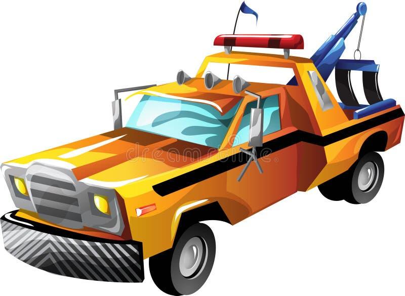 Caminhão de reboque dos desenhos animados ilustração royalty free