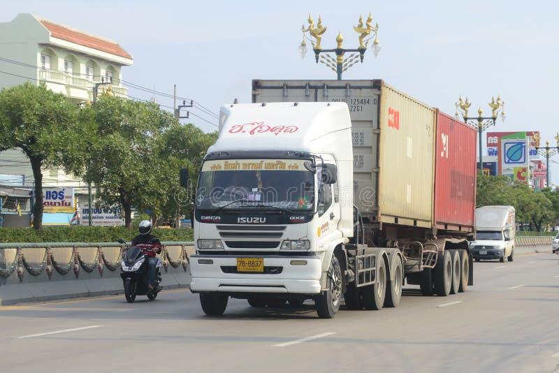 Caminhão de reboque, recipiente imagem de stock