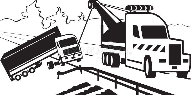 Caminhão de reboque resistente ilustração stock