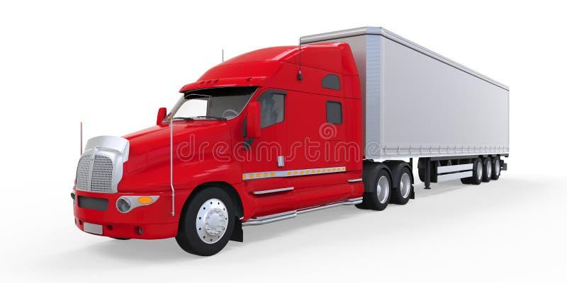 Download Caminhão De Reboque Vermelho Isolado No Fundo Branco Foto de Stock - Imagem de mover, entregue: 29846906