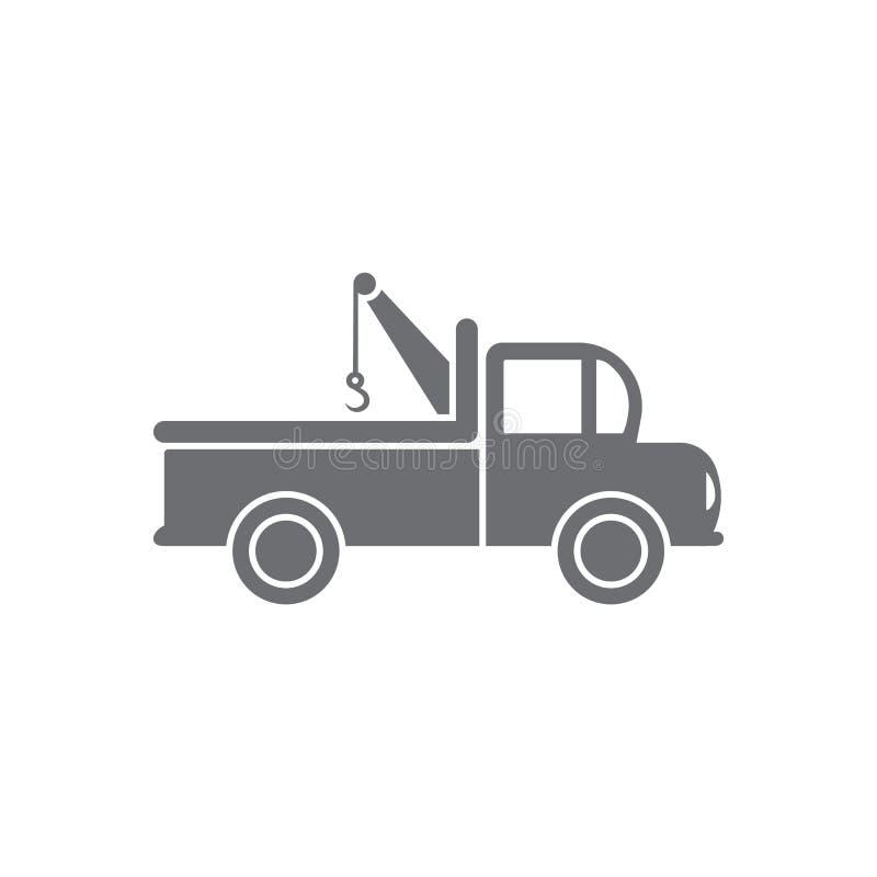 Caminhão de recolhimento com ícone do gancho Ilustração simples do elemento Caminhão de recolhimento com projeto do símbolo do ga ilustração do vetor