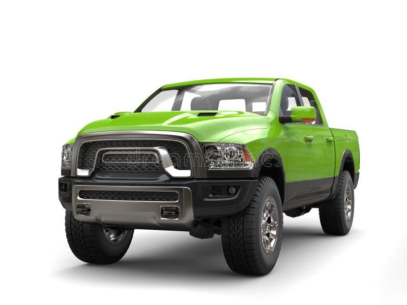 Caminhão de recolhimento moderno do verde-lima - tiro da beleza ilustração royalty free