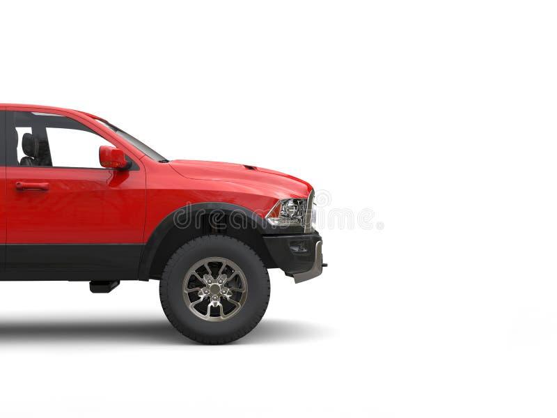 Caminhão de recolhimento moderno poderoso impressionante - corte o tiro imagem de stock