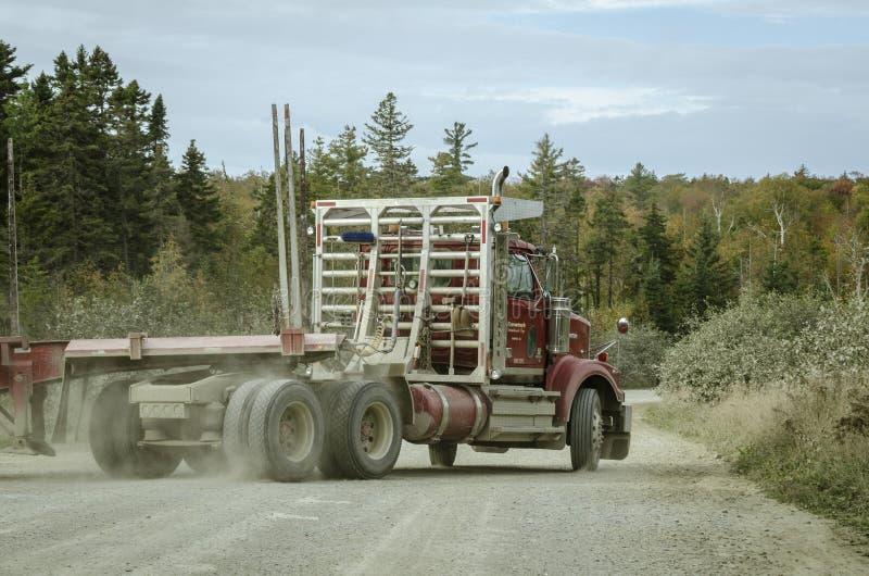 Caminhão de registro nas madeiras foto de stock royalty free