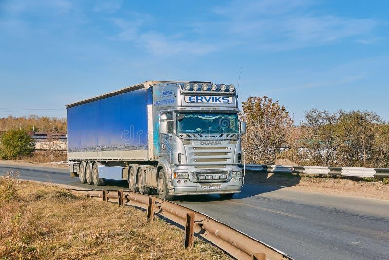 Caminhão de Scania grande foto de stock