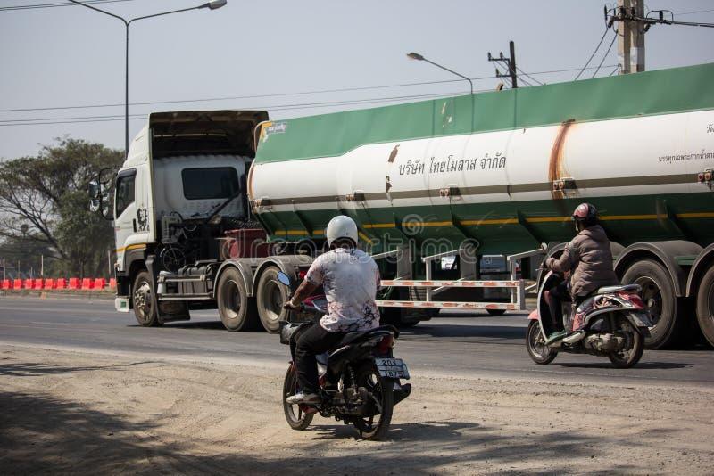 Caminhão de tanque do melaço de Tailandês Molaz Empresa imagens de stock royalty free