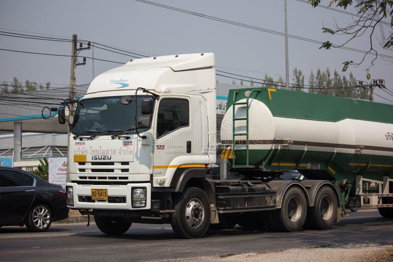 Caminhão de tanque do melaço de Tailandês Molaz Empresa imagem de stock royalty free