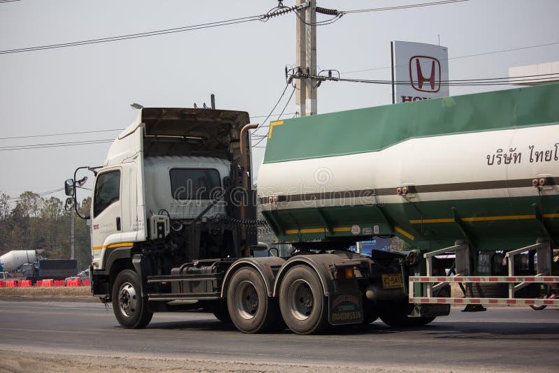 Caminhão de tanque do melaço de Tailandês Molaz Empresa fotografia de stock royalty free