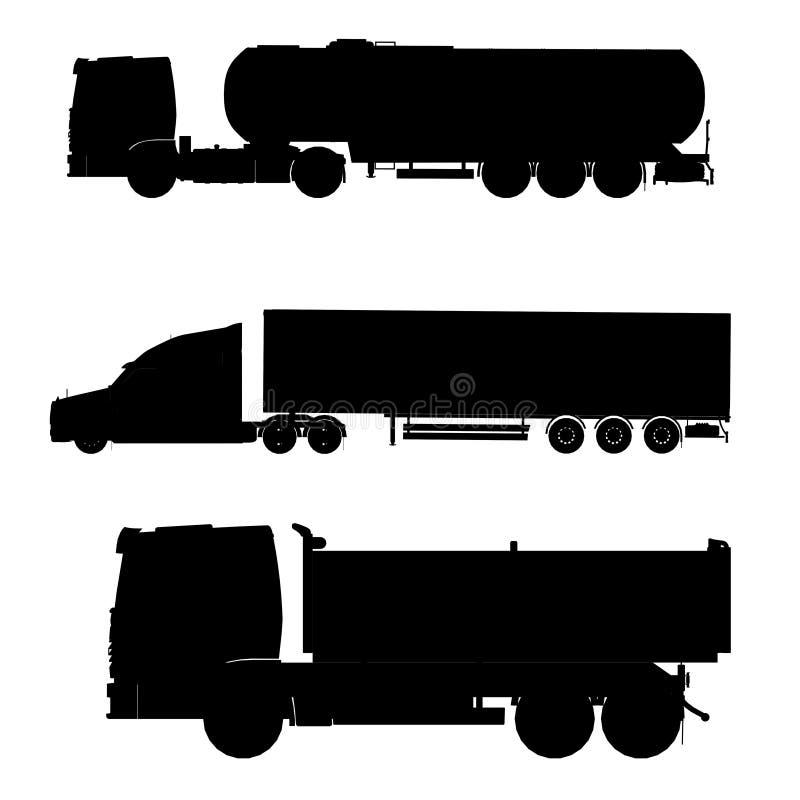 Caminhão de tanque do Tir ilustração royalty free