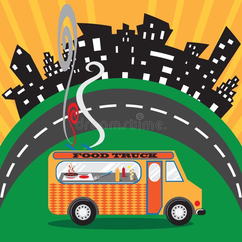 Caminhão do alimento ilustração royalty free