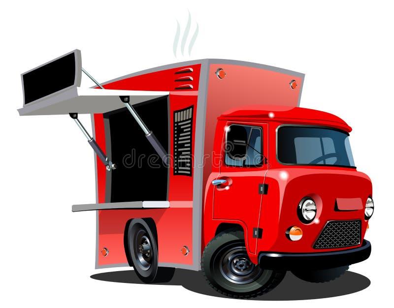 Caminhão do alimento dos desenhos animados ilustração royalty free