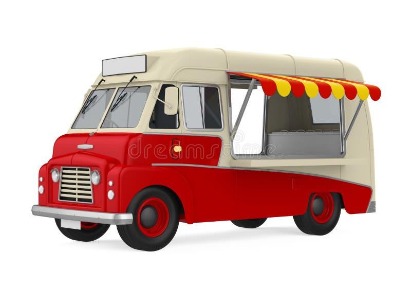 Caminhão do alimento isolado ilustração stock