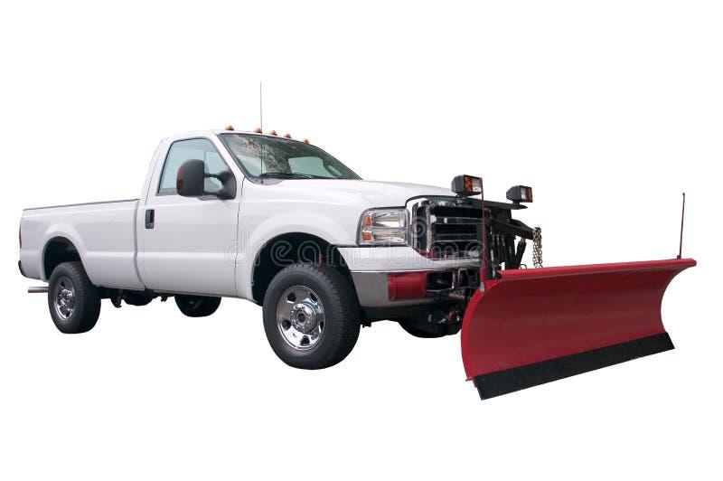 Caminhão do arado de neve fotografia de stock