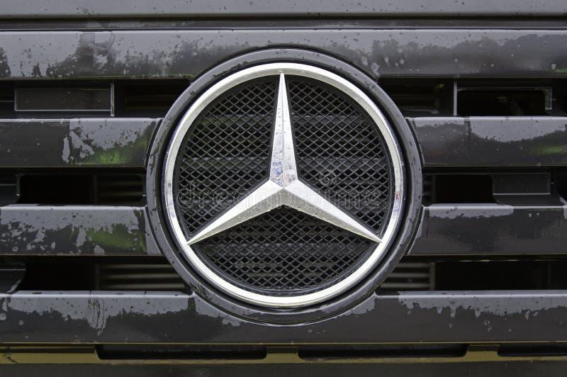Caminhão do Benz de Mercedes fotografia de stock