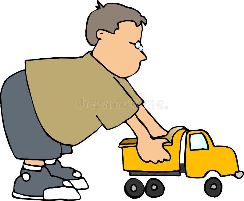 Download Caminhão do brinquedo ilustração stock. Ilustração de jogo - 56808