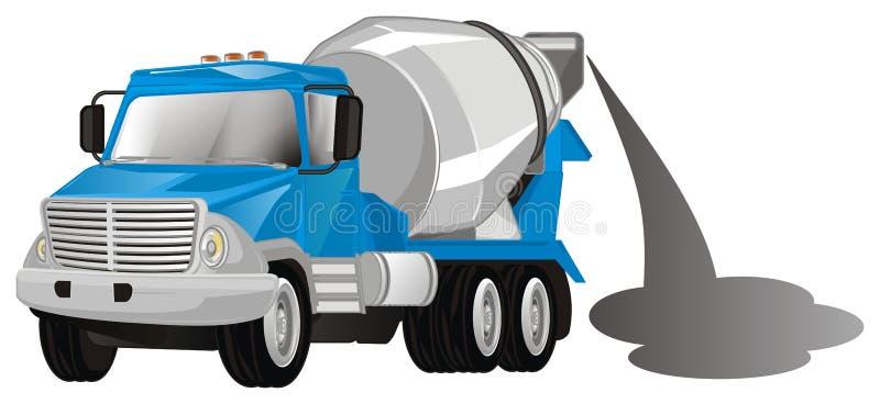 Caminhão do cimento com cimento ilustração do vetor
