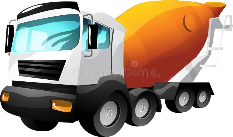 Caminhão do cimento dos desenhos animados ilustração stock