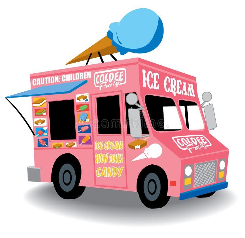 Caminhão do gelado ilustração stock