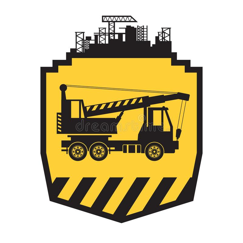 Caminhão do móbil do guindaste ilustração do vetor