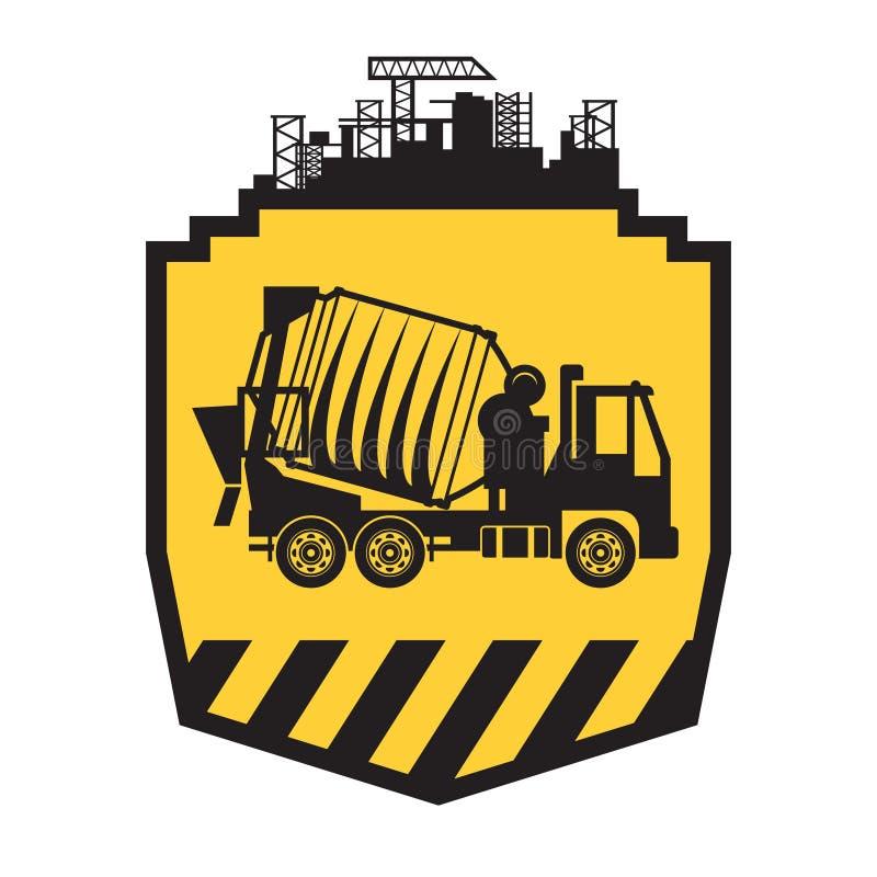 Caminhão do misturador concreto ilustração do vetor