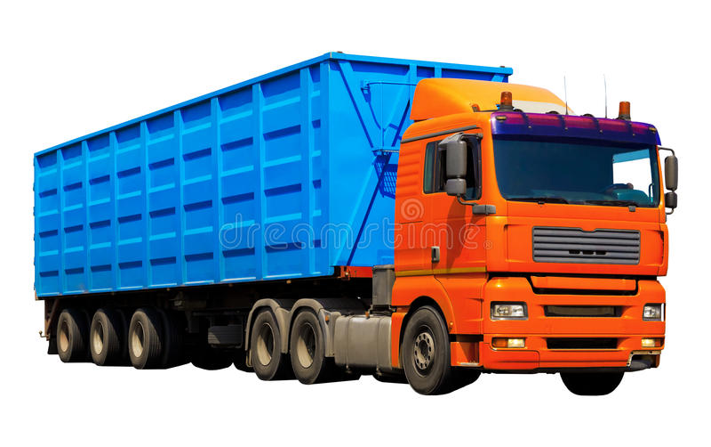 Caminhão do recipiente imagem de stock