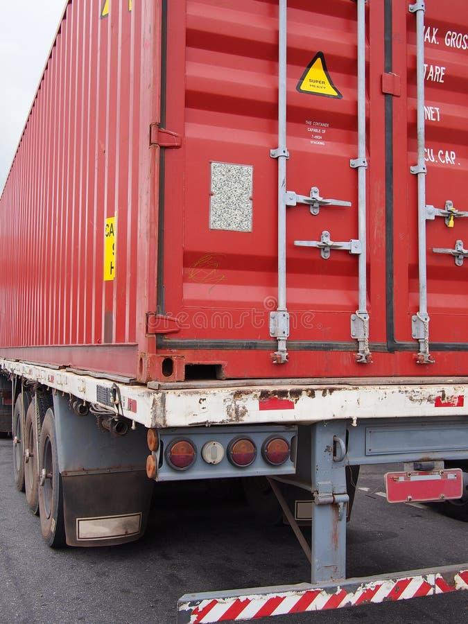 Caminhão do recipiente imagens de stock