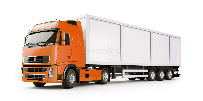 Caminhão do Semi-Trailer ilustração royalty free
