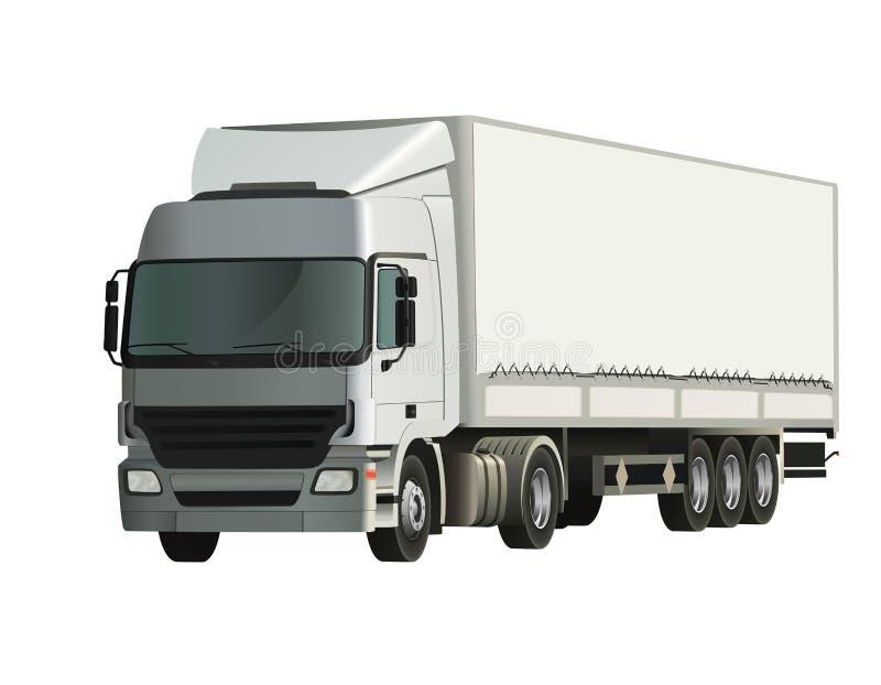Caminhão do Semi-trailer ilustração do vetor
