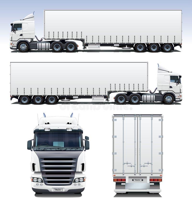 Caminhão do Semi-Trailer ilustração stock