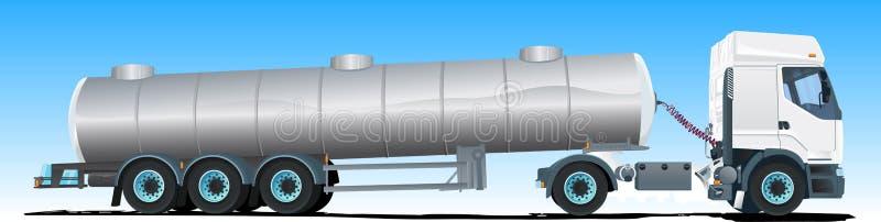 Caminhão do semi-trailer do petroleiro ilustração do vetor