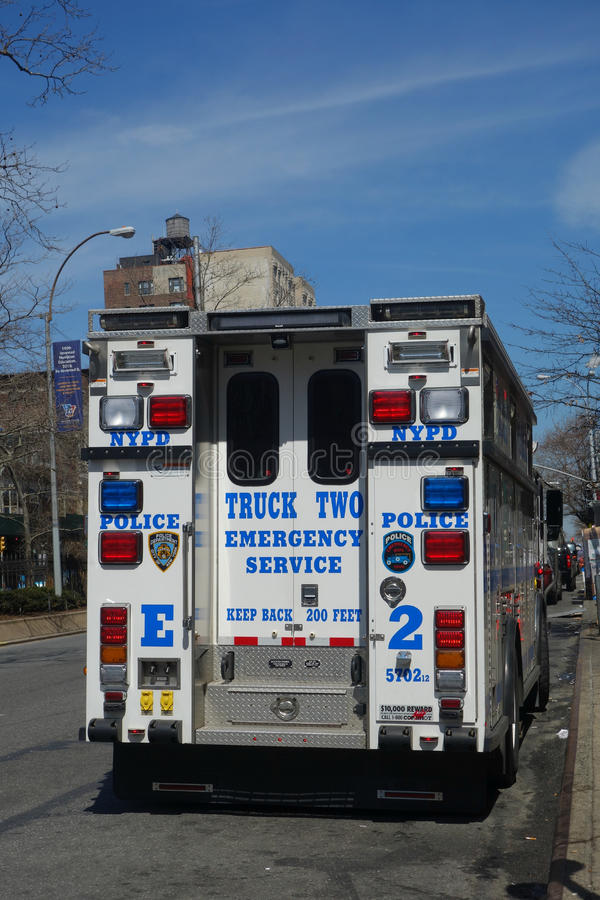 Caminhão do serviço de urgências foto de stock