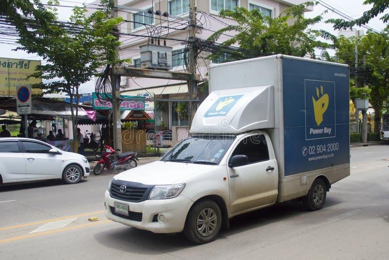 Caminhão do shopping da compra do poder mini fotos de stock royalty free