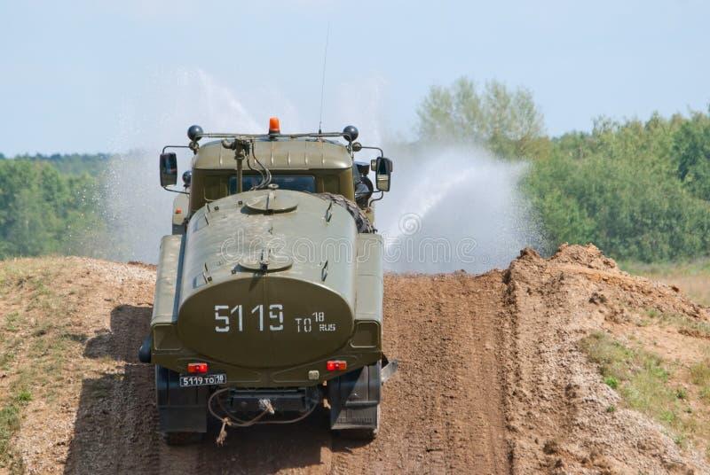 Caminhão do sistema de extinção de incêndios URAL-43206 fotos de stock royalty free