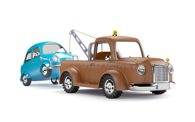 Caminhão e carro de reboque ilustração stock