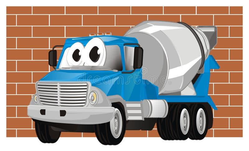 Caminhão e parede engraçados ilustração stock
