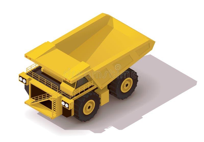 Caminhão isométrico do transporte do vetor ilustração do vetor