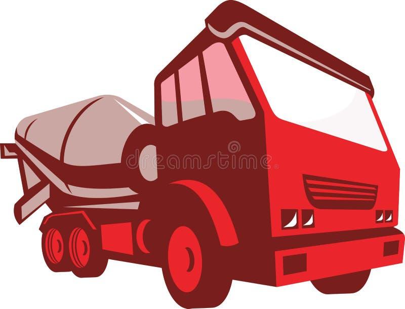 Caminhão Lorry Retro Style do cimento ilustração do vetor