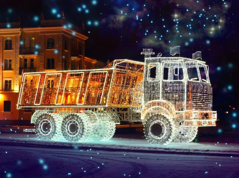Caminhão luminoso da característica imagem de stock