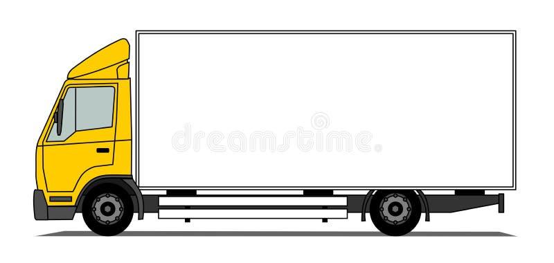 Caminhão médio da caixa ilustração royalty free