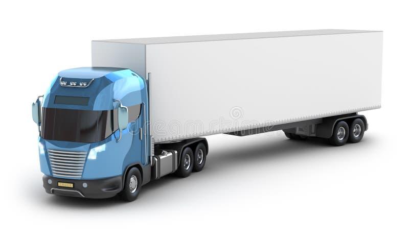 Caminhão moderno com recipiente de carga ilustração do vetor