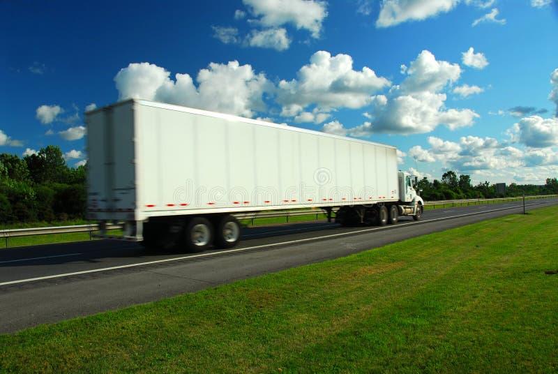 Caminhão movente fotos de stock